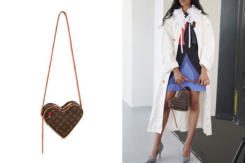 louis vuitton cruise 2021 game on heart handbags