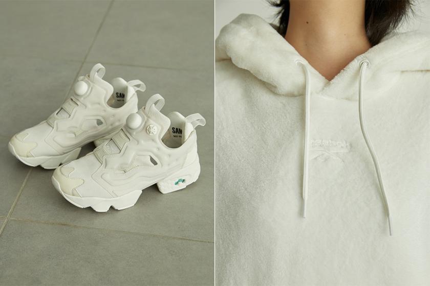 SNIDEL x Reebok CLASSIC INSTAPUMP FURY OG White Sneaker