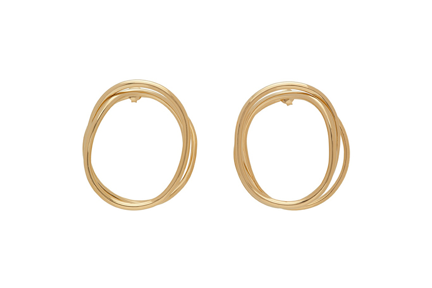 2020 fw Jewelry Gold Earring Necklace Ring SSENSE