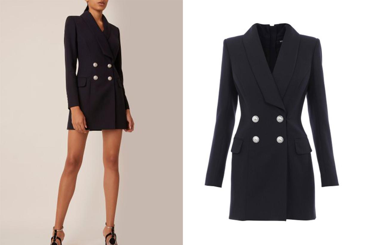 Balmain Double-Breasted Mini Blazer Dress