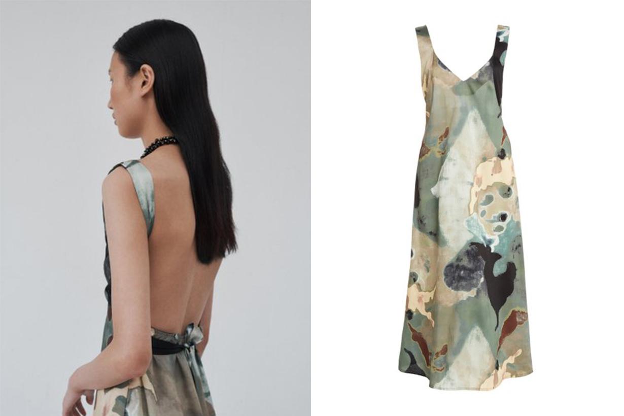 Beaufille Rohe Printed Crepe De Chine Midi Dress