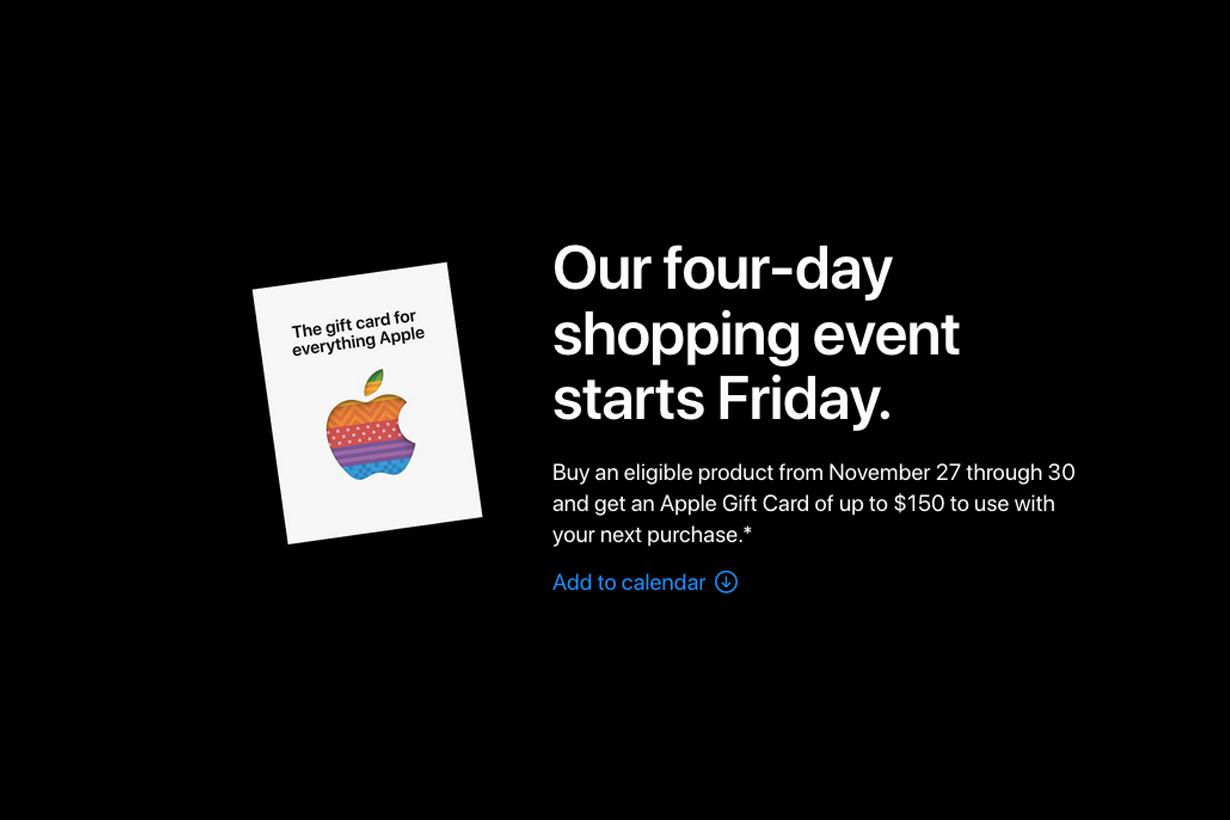 apple iphone black friday gift card 2020 list macbook