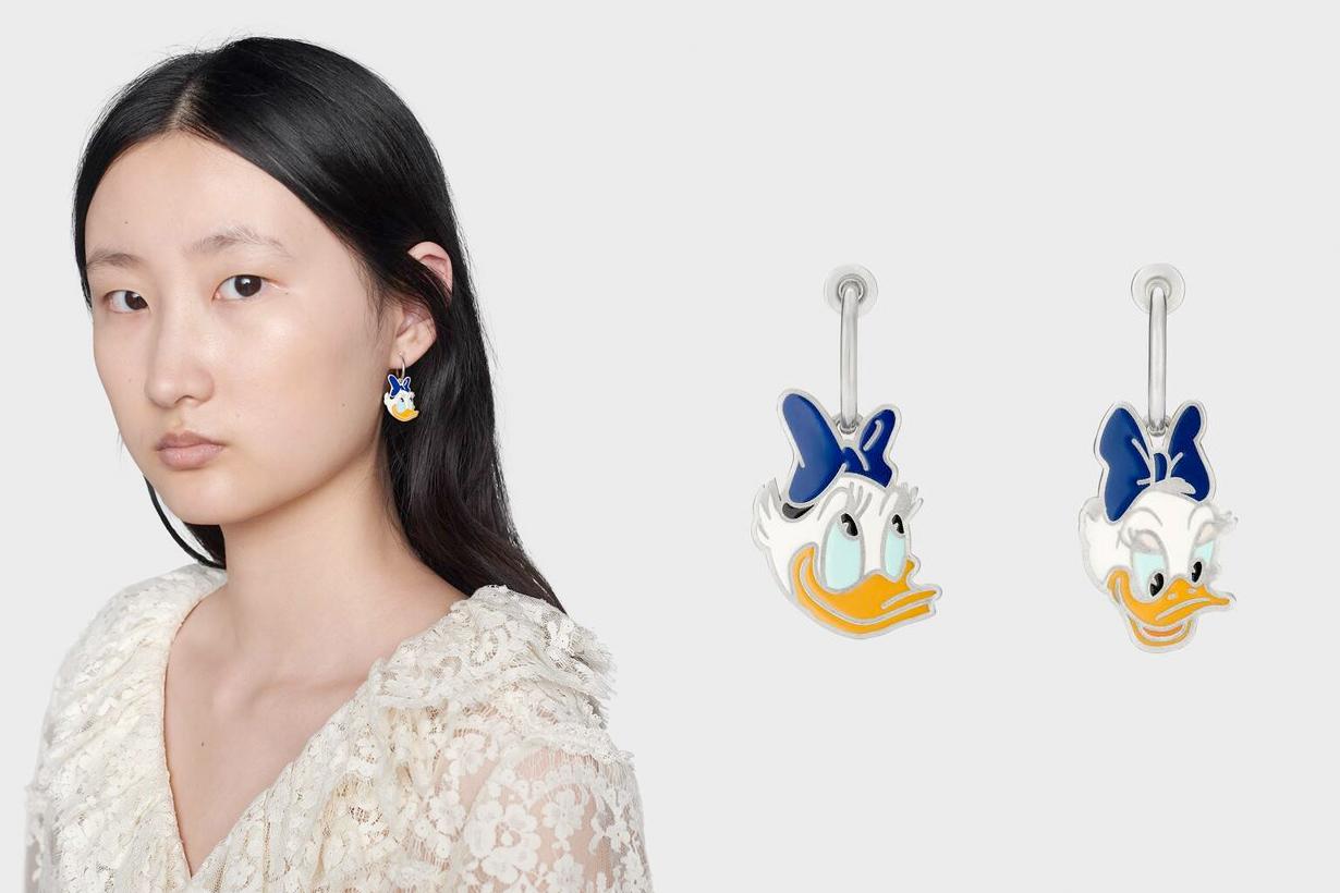 gucci disney donald daisy duck 2020 fw ring earring necklace bracelet