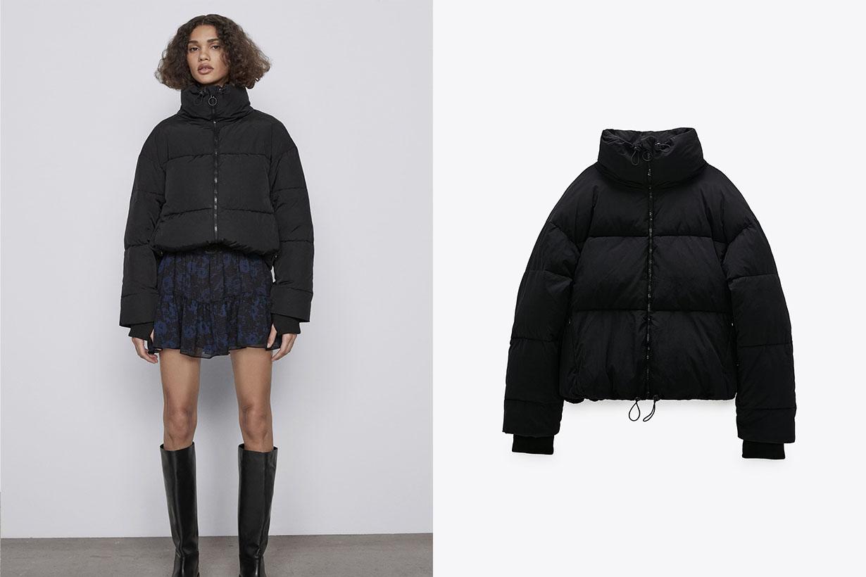 zara puffer jacket puffer gilet 2020 fw fashion trend
