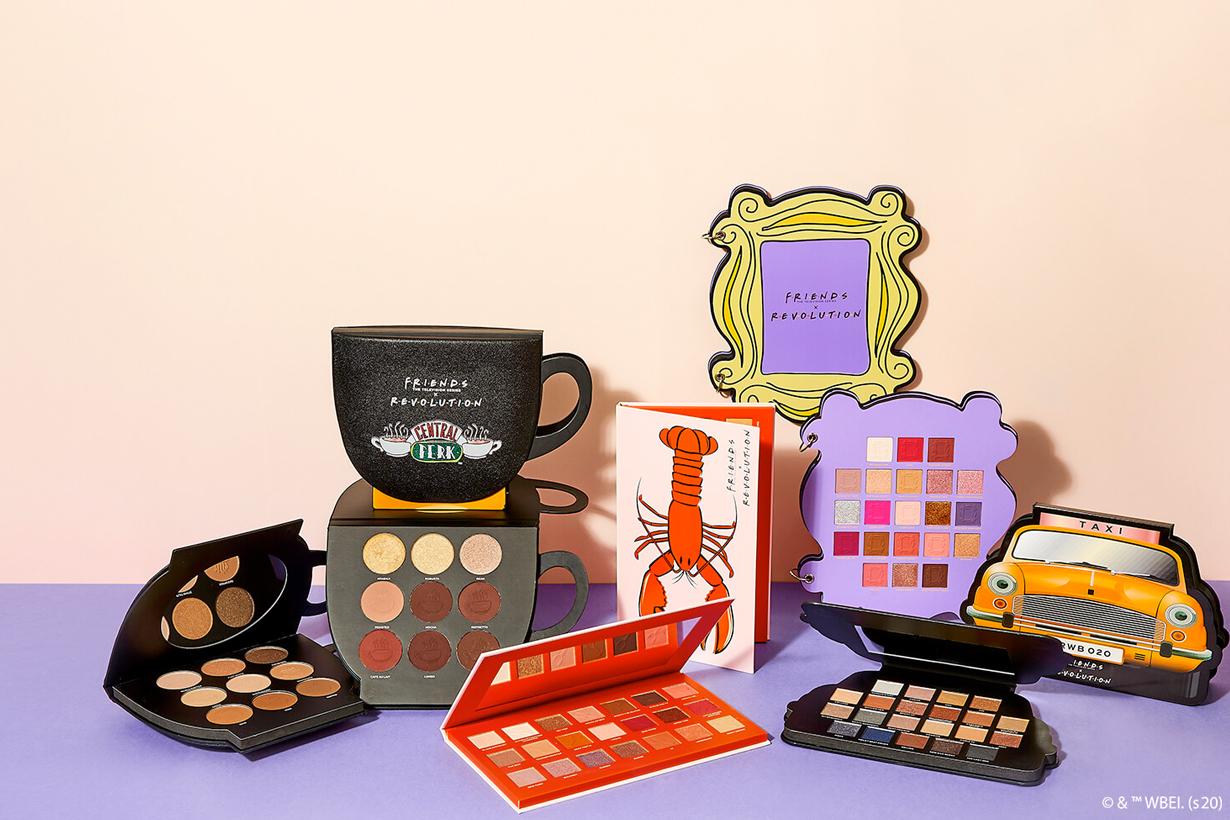 friends revolution makeup collabration 2020 eyeshadow palette lipstick bath fizzer