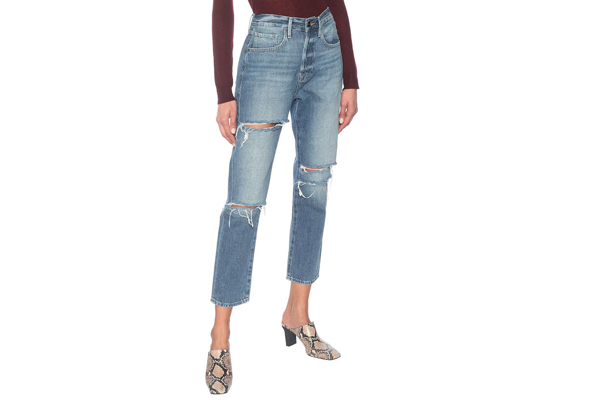 FRAME Le Original high-rise straight jeans