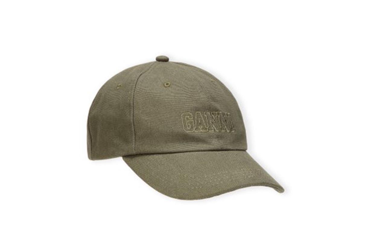 Ganni Software Cotton Baseball Cap