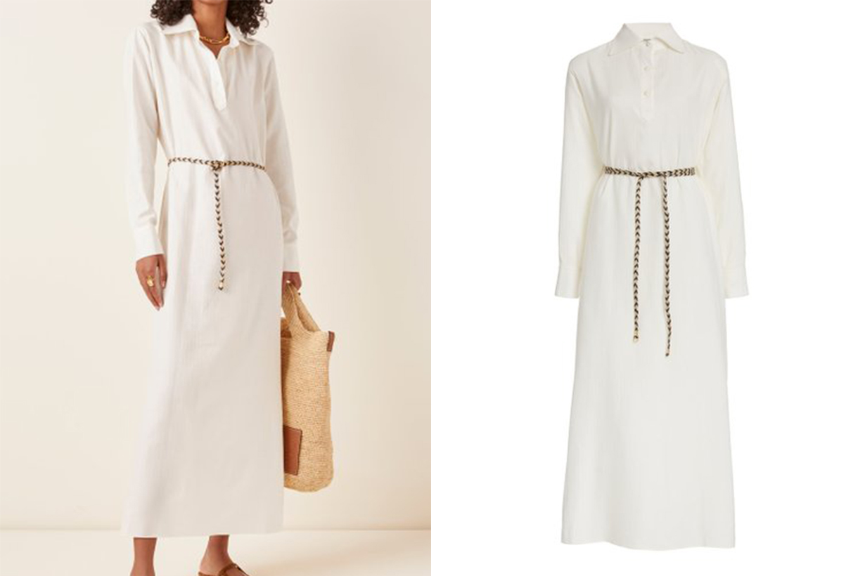 Giuliva Heritage The Antonine Cotton and Cashmere-Blend Maxi Dress