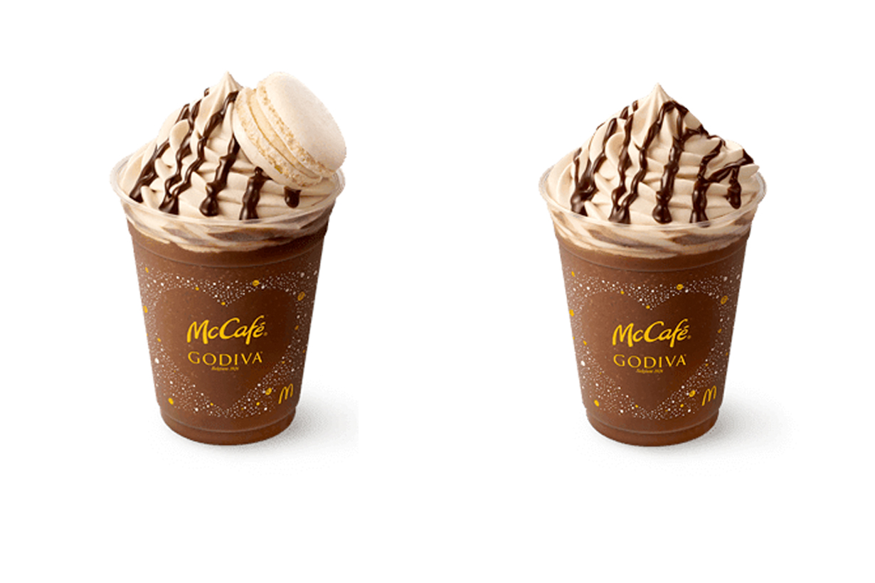McDonald's McCafé Godiva 2020 winter chocolate frappe