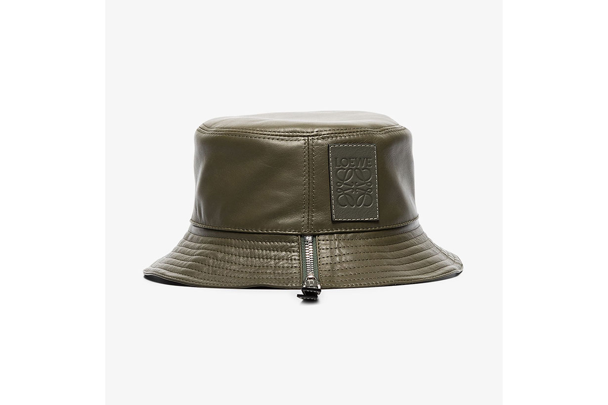 Green Leather Bucket Hat