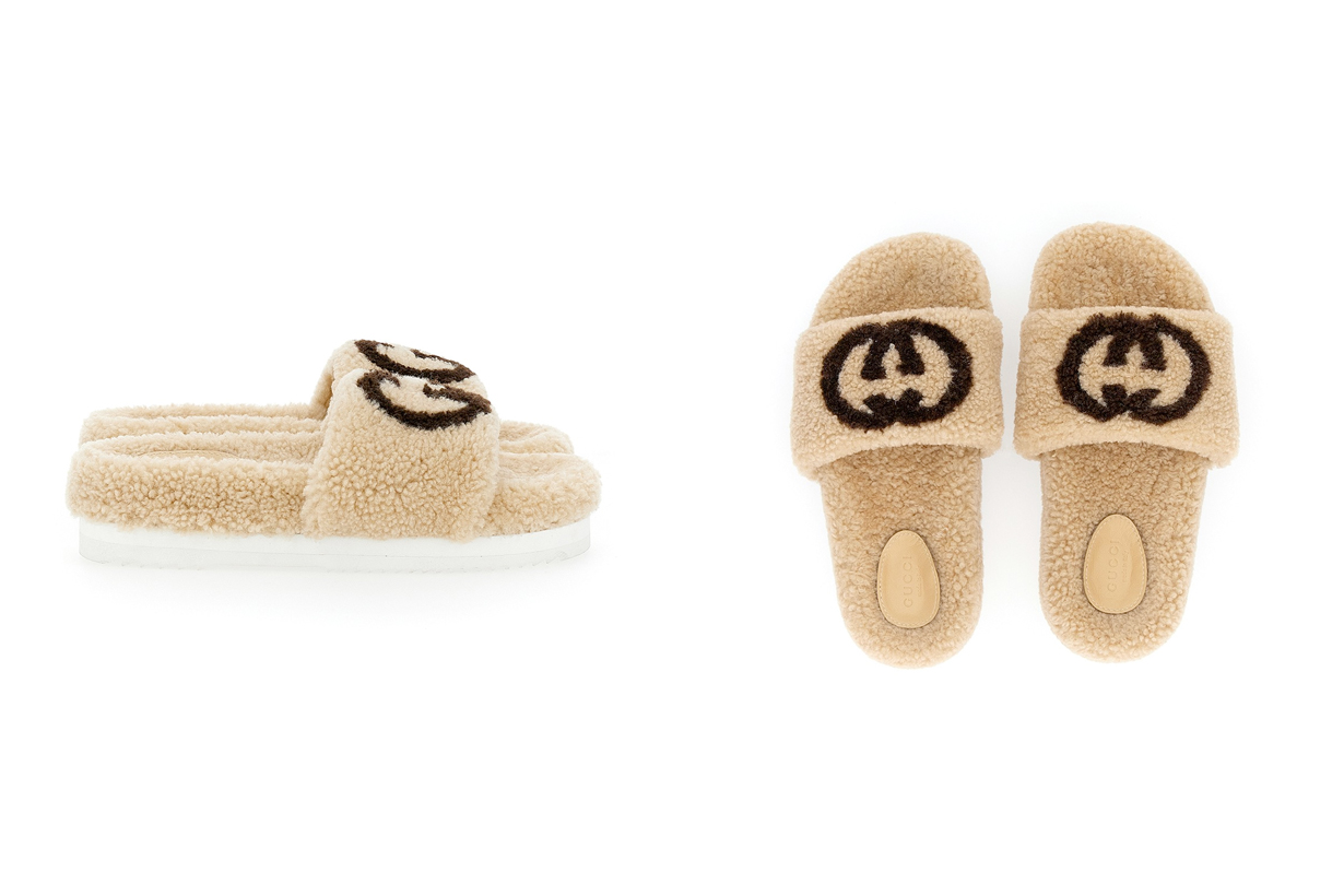 gucci furry slides holiday sandals 2020
