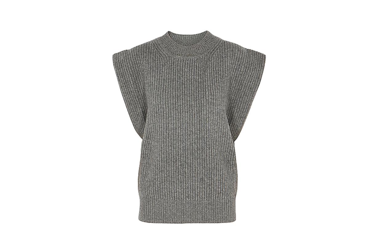 ISABEL MARANT  Bridget grey cashmere and wool-blend tank
