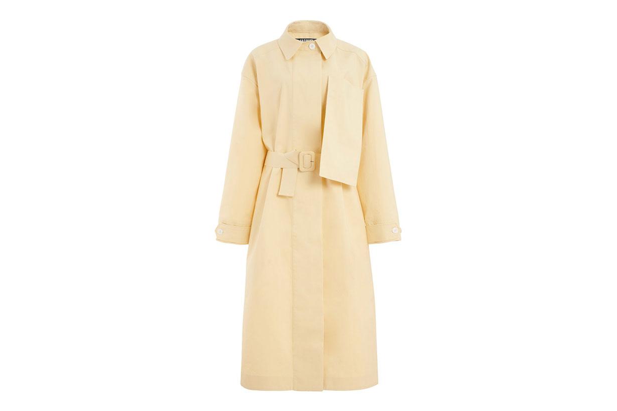 Jacquemus Le Manteau Camiseto Cotton Trench Coat