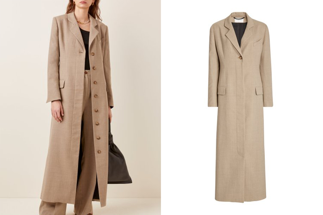 La Collection Modesty Crepe Wool Blazer Dress