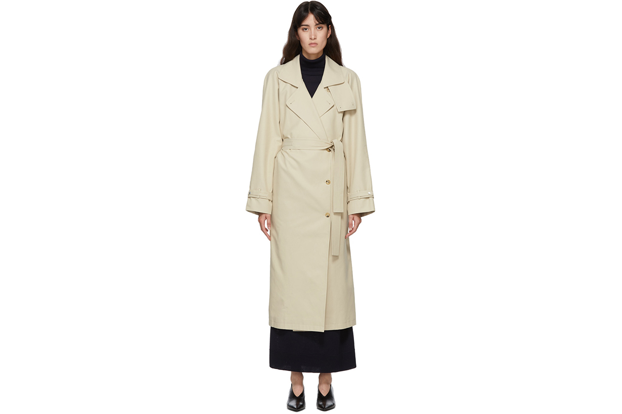 LE17SEPTEMBRE Beige Raglan Sleeve Trench Coat