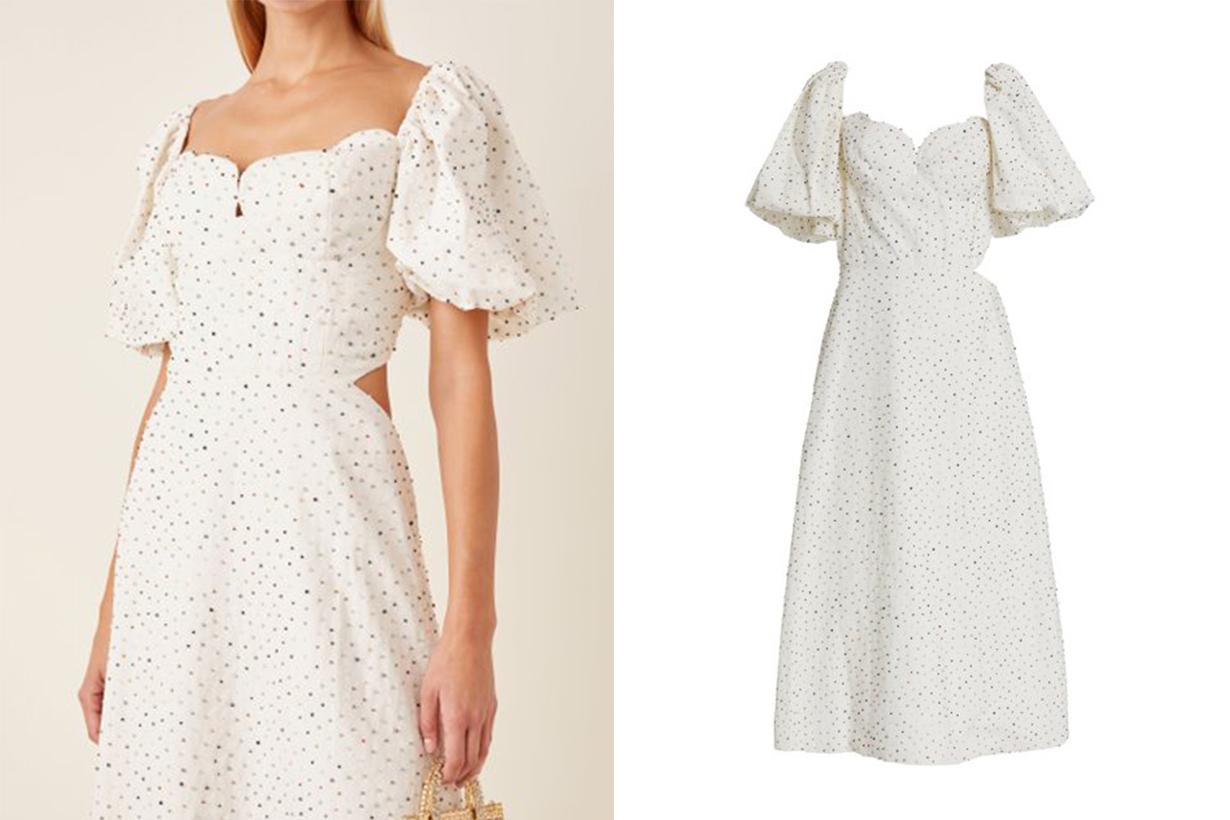 Markarian Exclusive Greta Cutout Beaded Cotton Dress