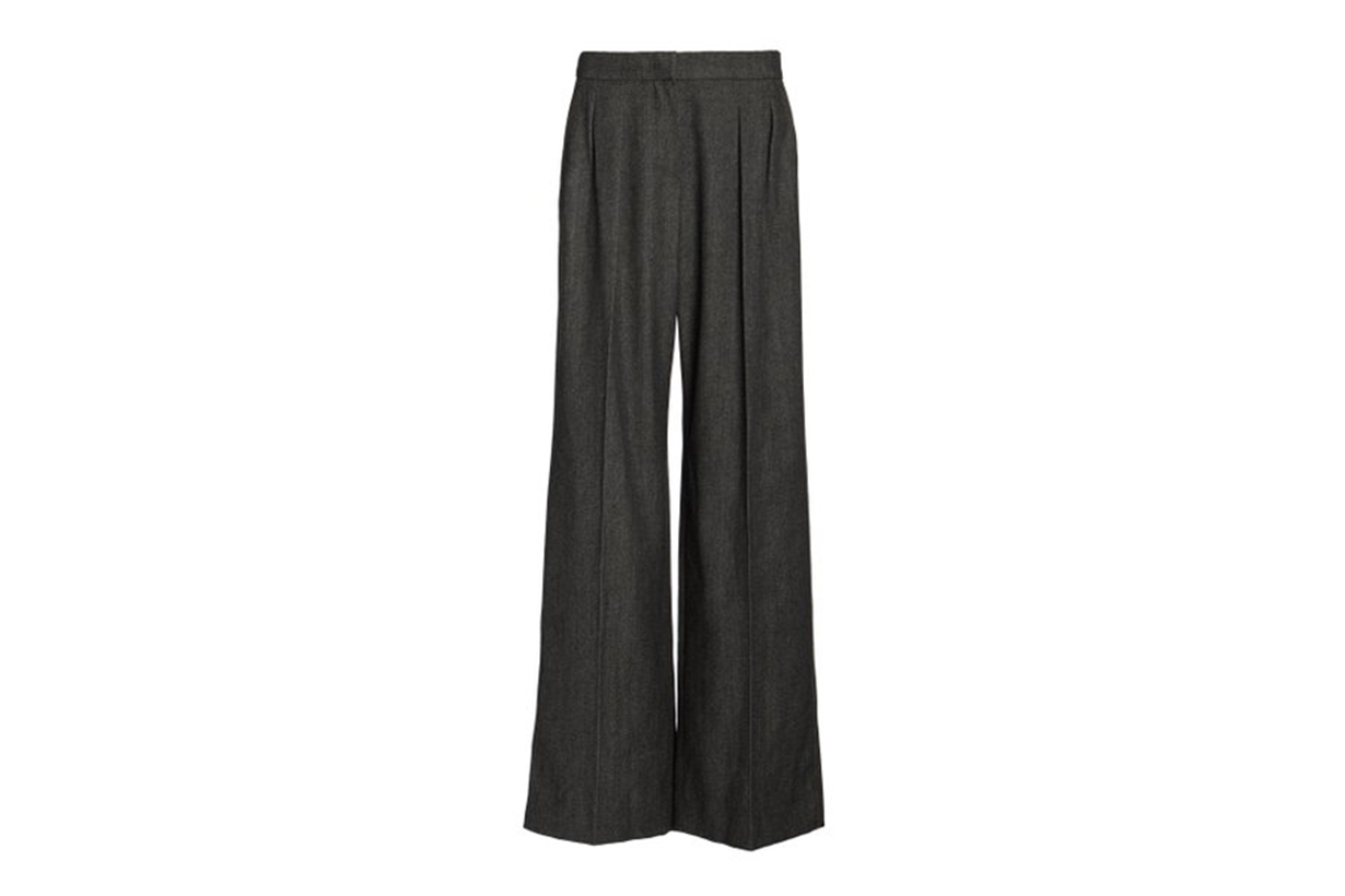 Max Mara Pomez Pleated Wool Wide-Leg Pants