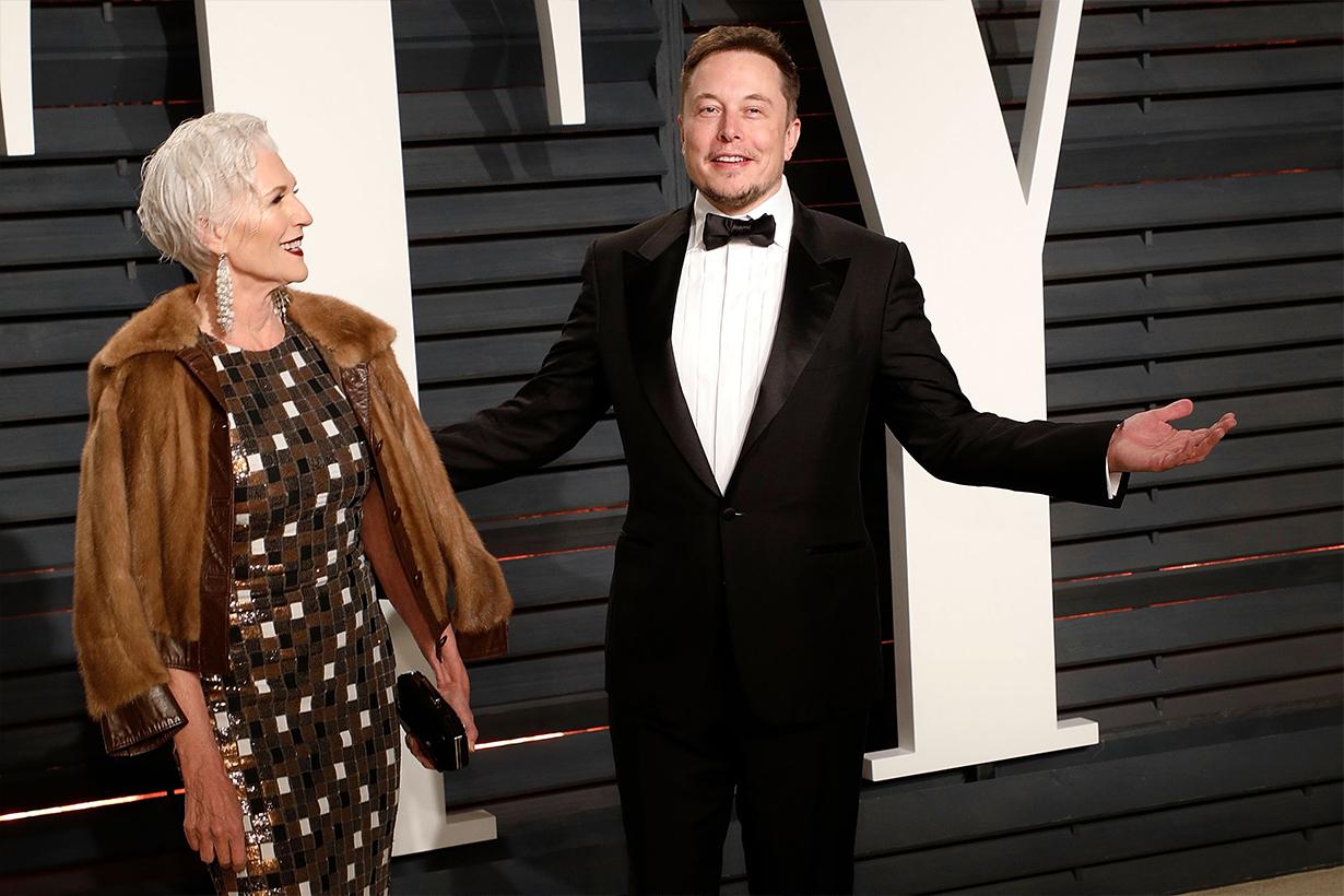 Elon Musk Tesla Paypal Space X Maye Musk Kimbal Musk Tosca Musk Silver Head Model Talented Beautiful Woman