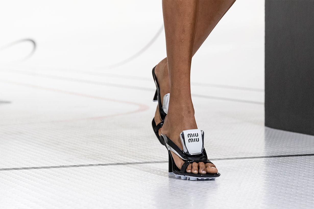 Model Walking on Miu Miu Runway
