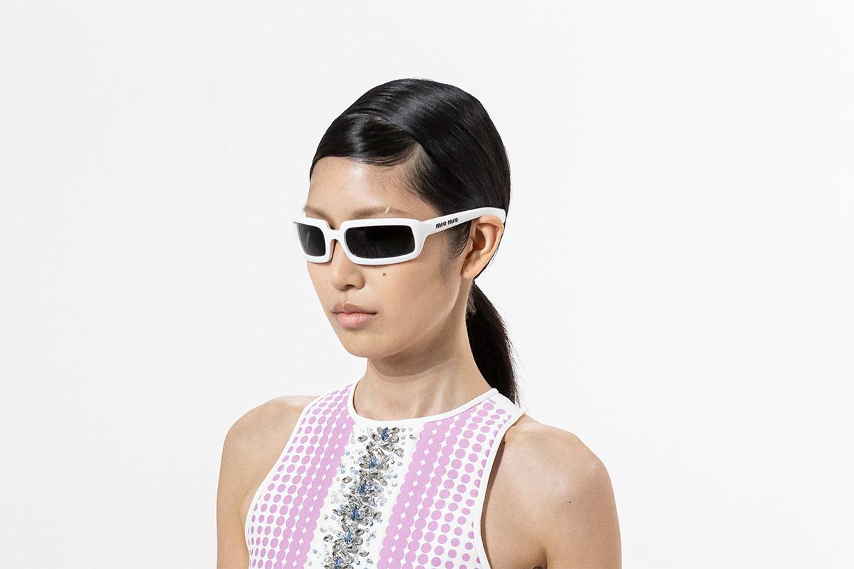 Model Wearing Miu Miu Sunglasses