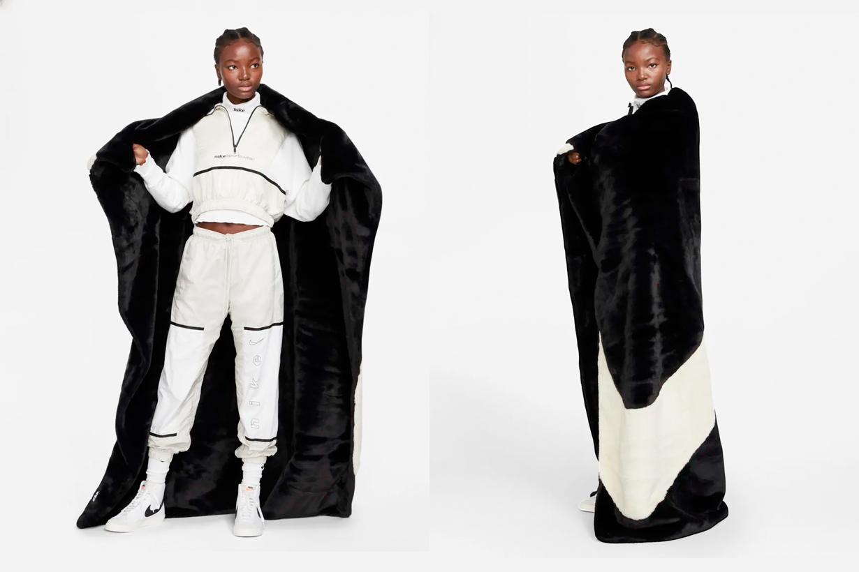 nike blanket sportswear Plush Faux Fur where buy winter essentials