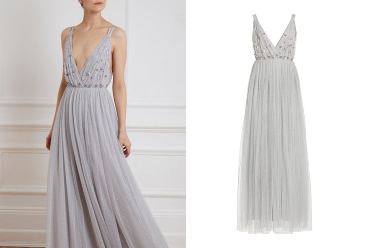Needle & Thread Neve Crystal-Embellished Tulle Gown