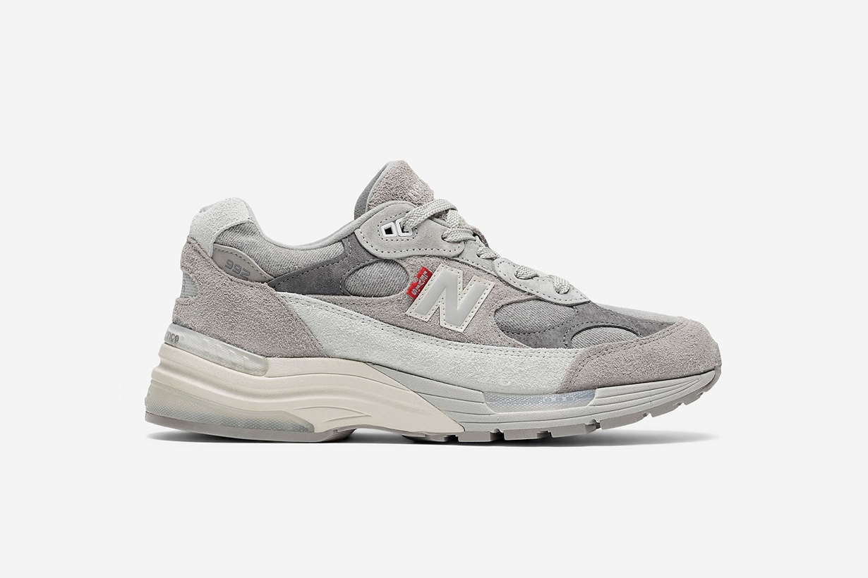 new balance levi's sneakers grey denim