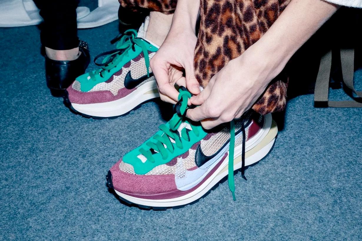 sacai nike vaporwaffle purple green december 2020 when release