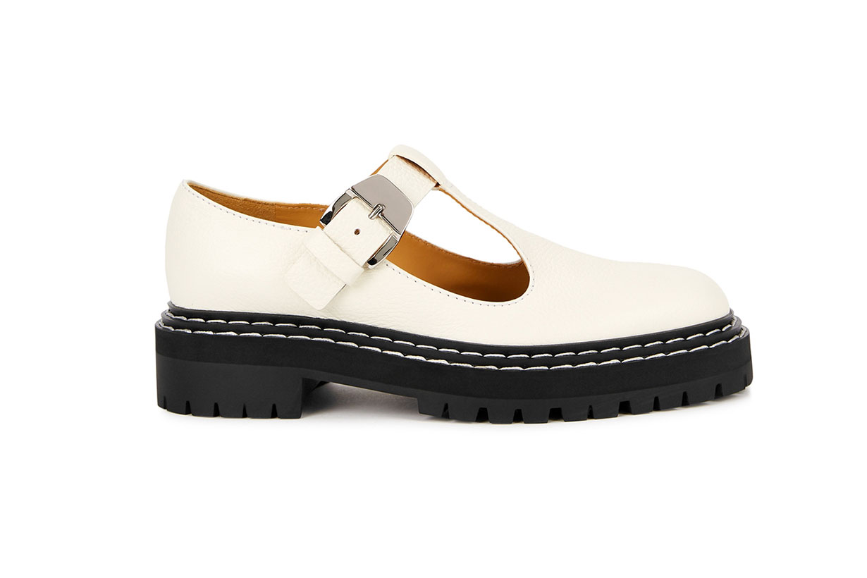 PROENZA SCHOULER  Off-white leather Mary Jane shoes