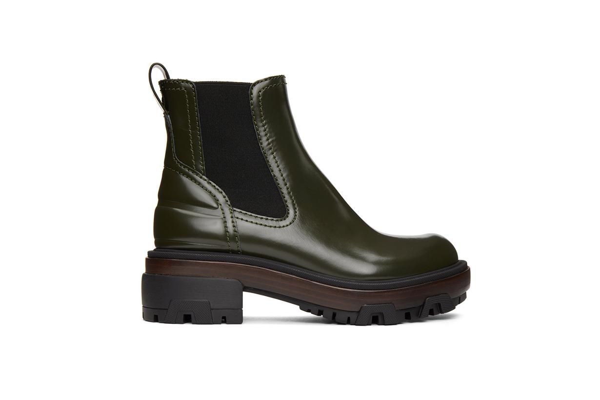 RAG & BONE Green Leather Shaye Boots