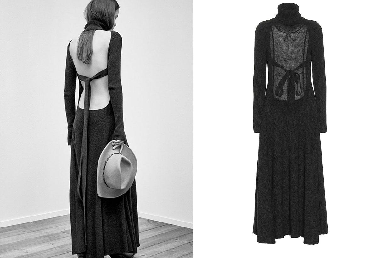 black sexy dress open back 2020 fw