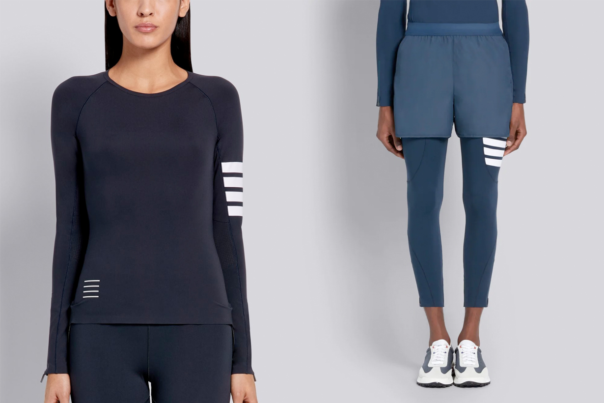 thom browne activewear first collection 2020 online release