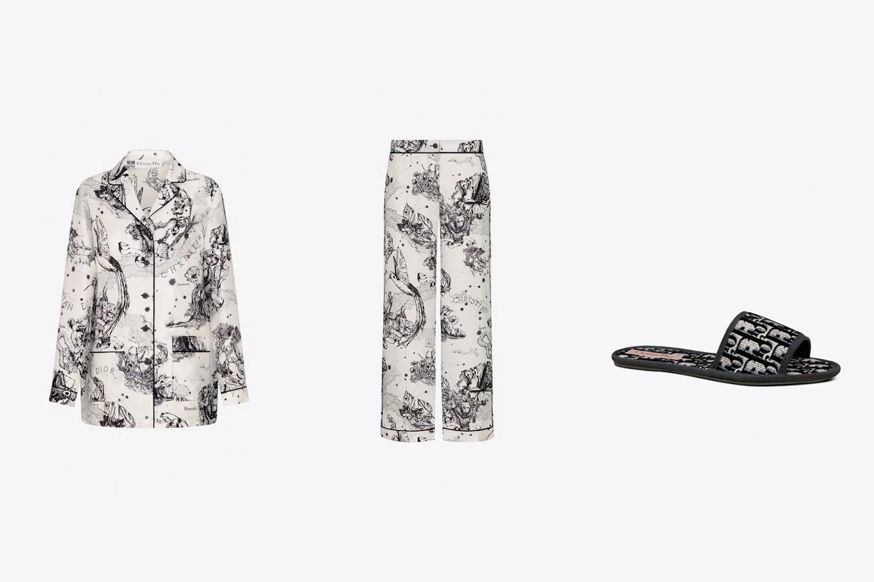 dior loungewear chez moi 2020 slipper pajama