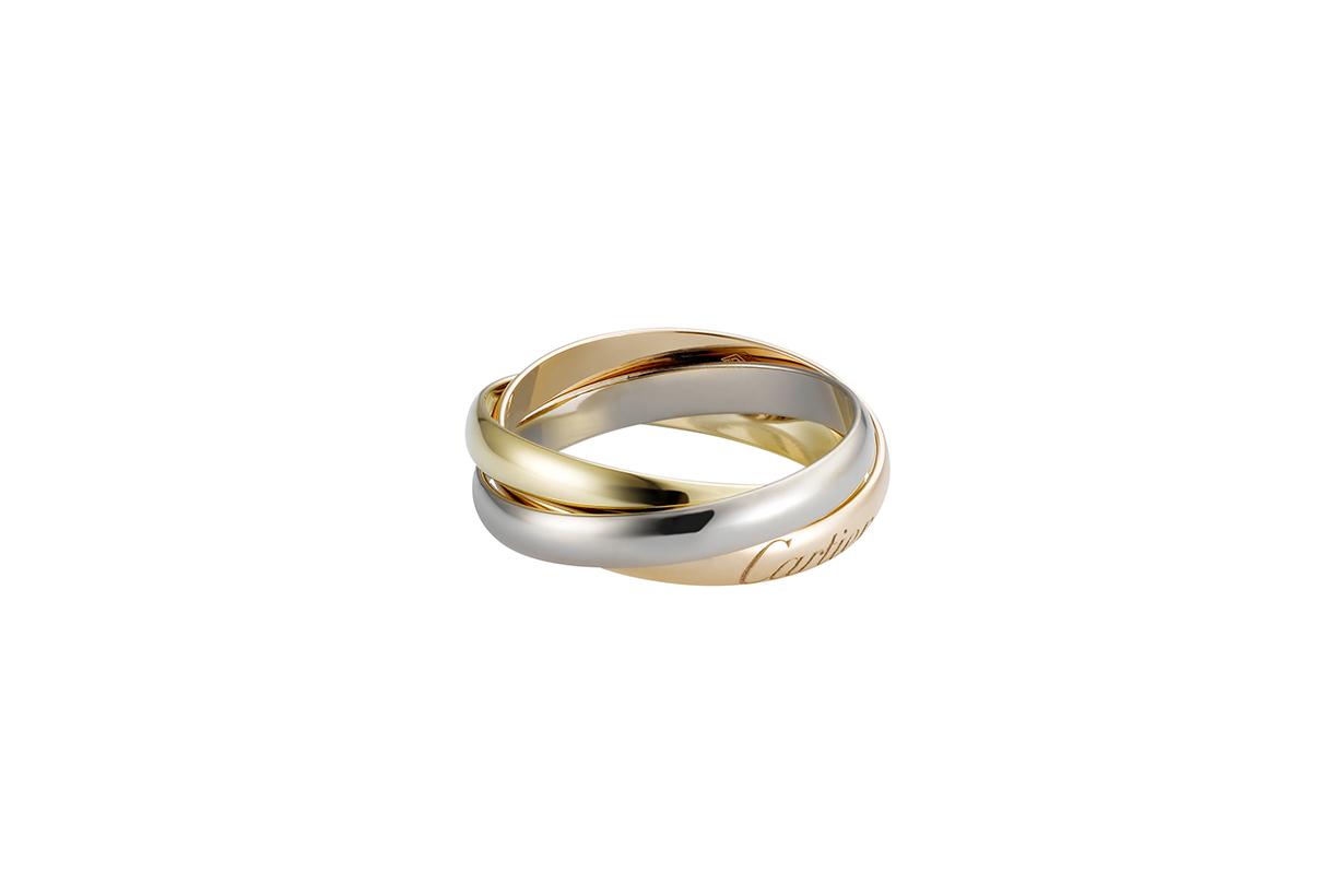 卡地亞 Trinity 系列戒指小型款 18K 白色黃金、18K黃金、18K玫瑰金