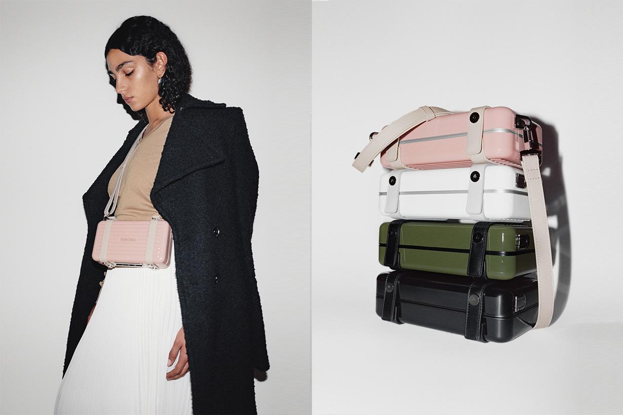 rimowa personal case bag clutch black white desert rose cactus release