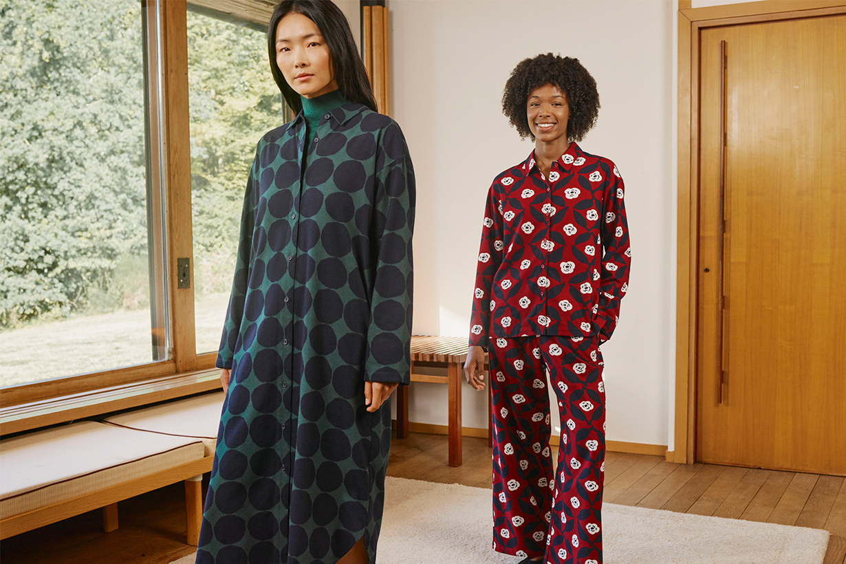Models Wearing UNIQLO x Marimekko