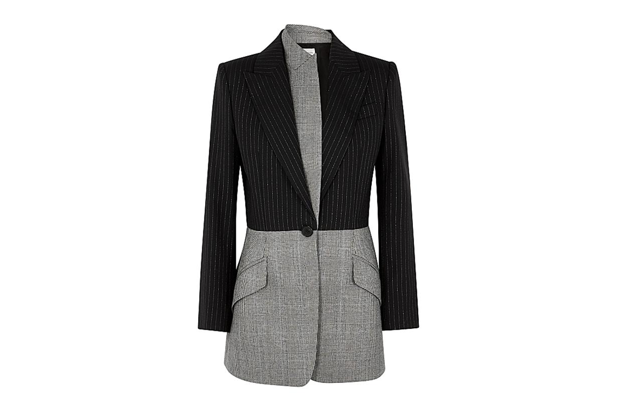 ALEXANDER MCQUEEN  Pinstriped panelled wool blazer