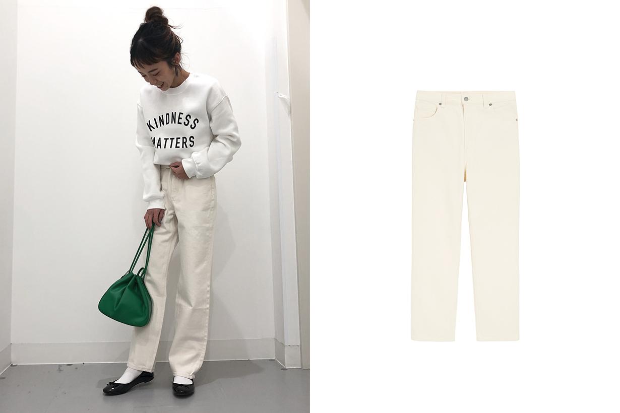 GU High Waist Straight denim Jeans bottoms