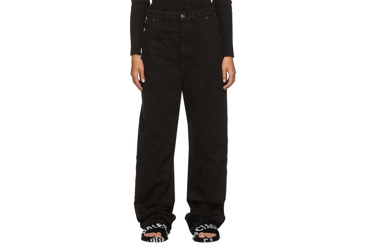 BALENCIAGA Black Baggy Jeans