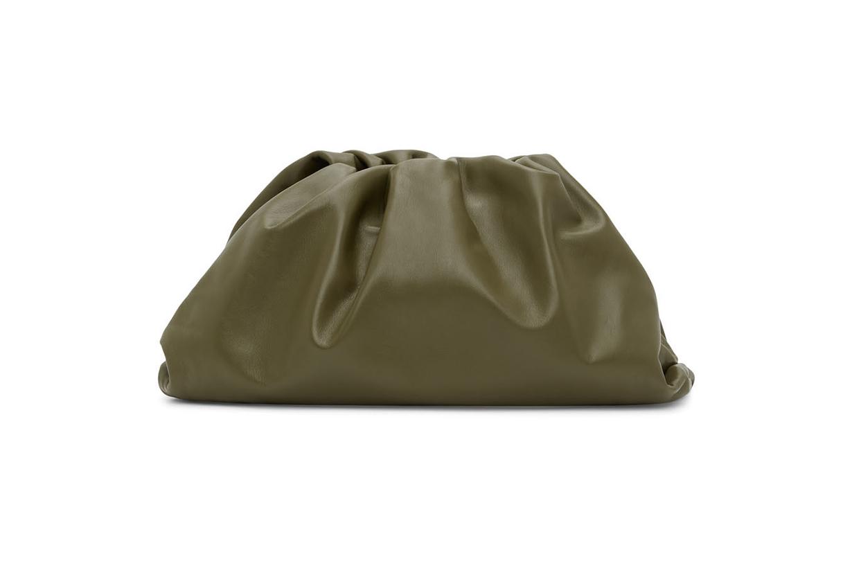 BOTTEGA VENETA Khaki 'The Pouch' Clutch