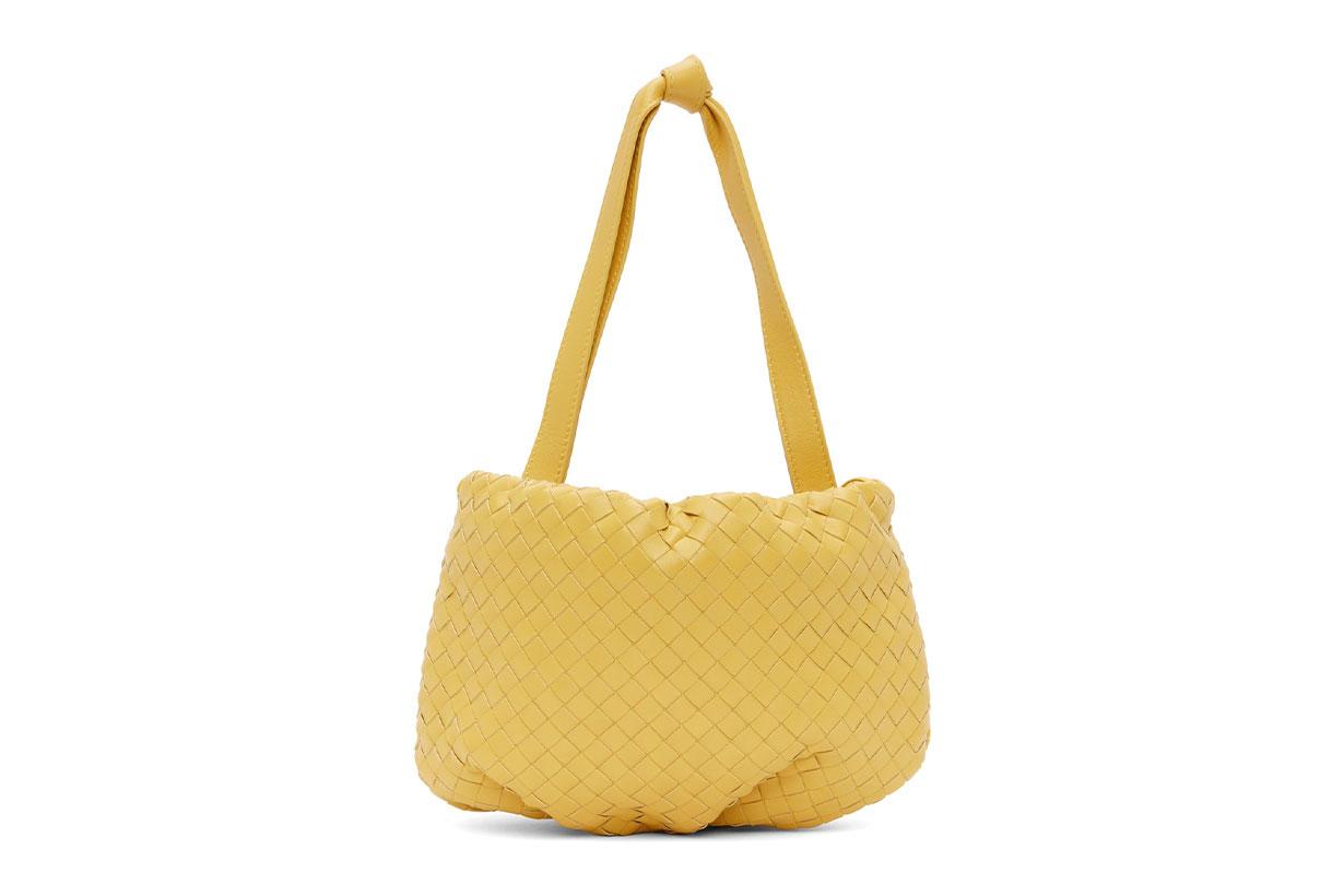 BOTTEGA VENETA Yellow Small Intrecciato Bulb Bag