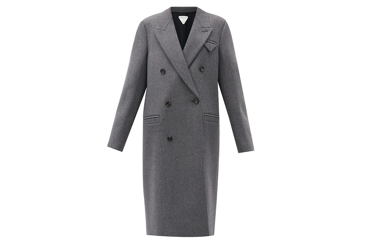 BOTTEGA VENETA Longline double-breasted wool coat