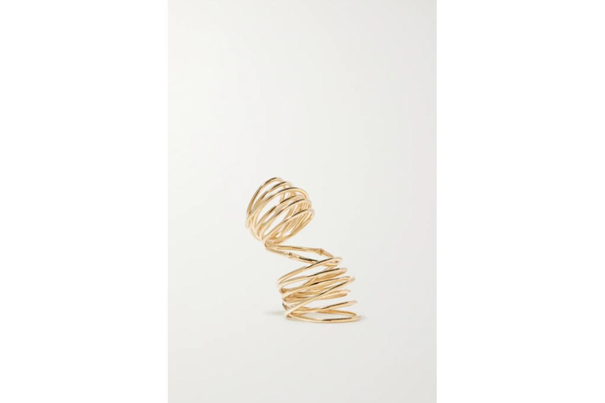 Bound gold vermeil ring