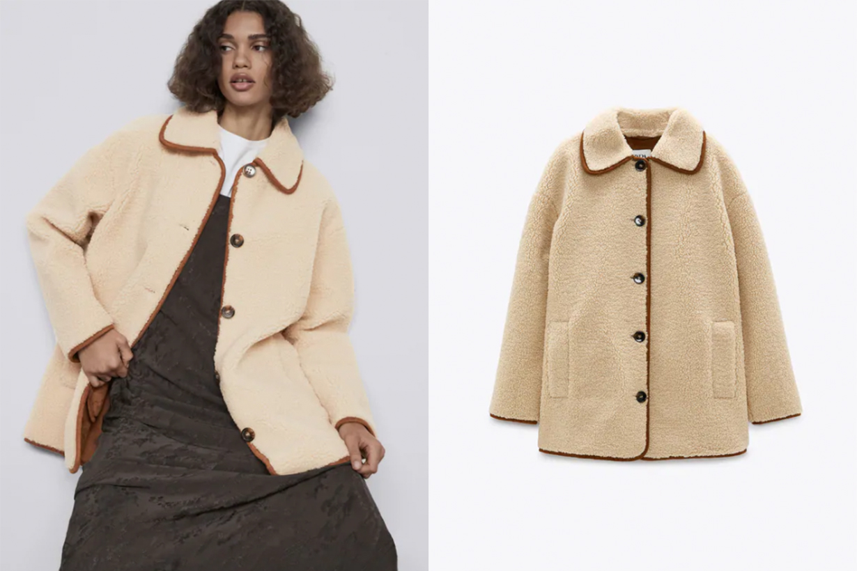 FAUX SHEARLING COATDETAILS HKD 699.00 CURRENT PRICE