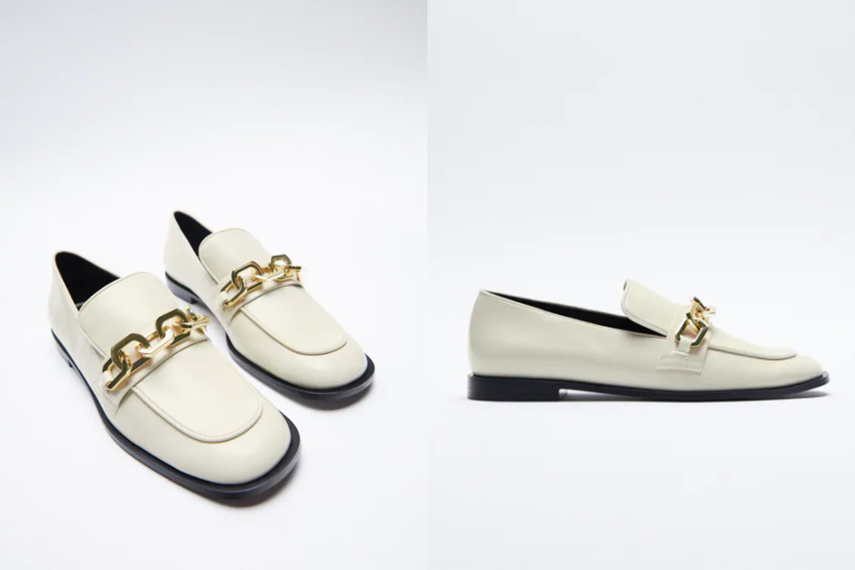 FLAT LOAFERS WITH CHAIN DETAIL