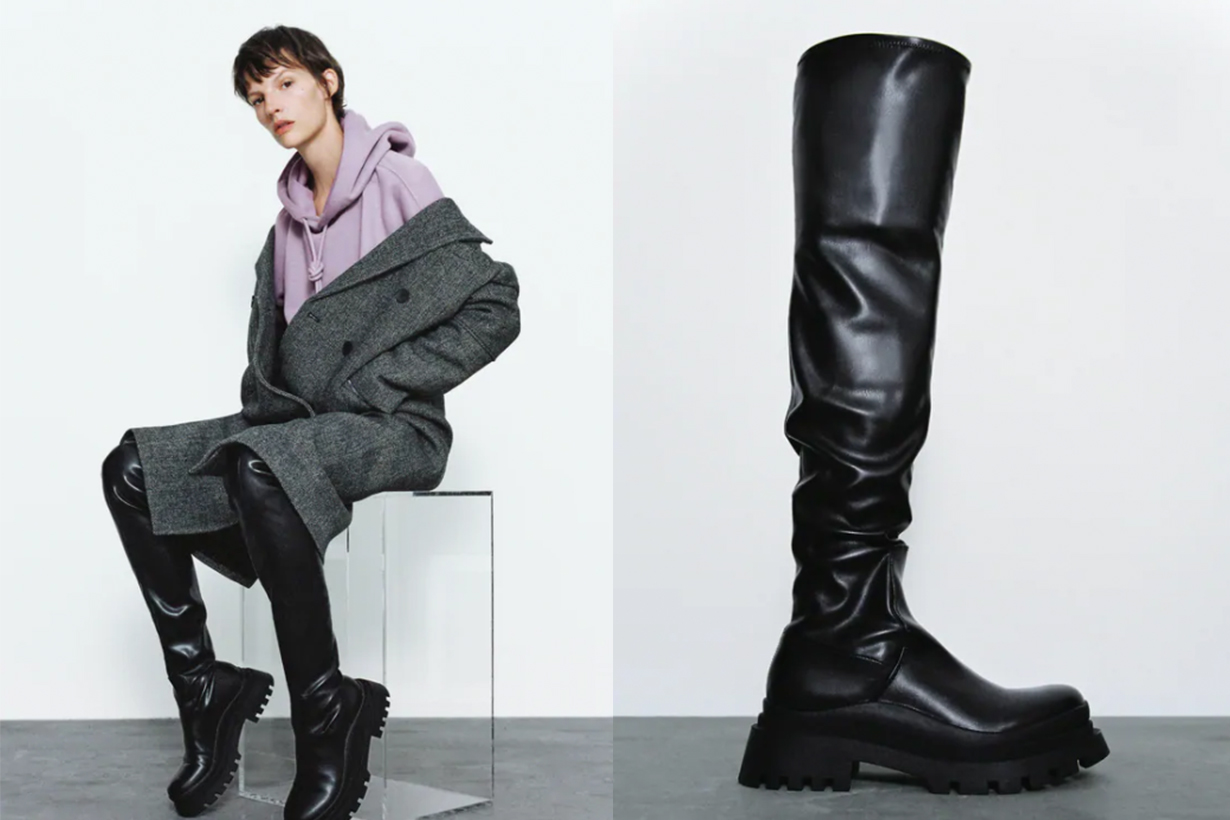 FLAT OVER-THE-KNEE BOOTS WITH TRACK SOLES