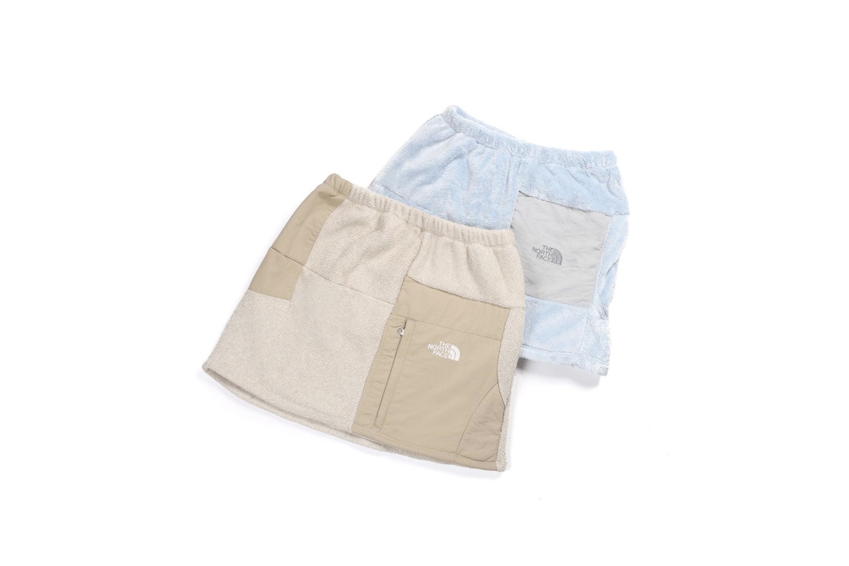 north face frankie collective fleece skirts mini