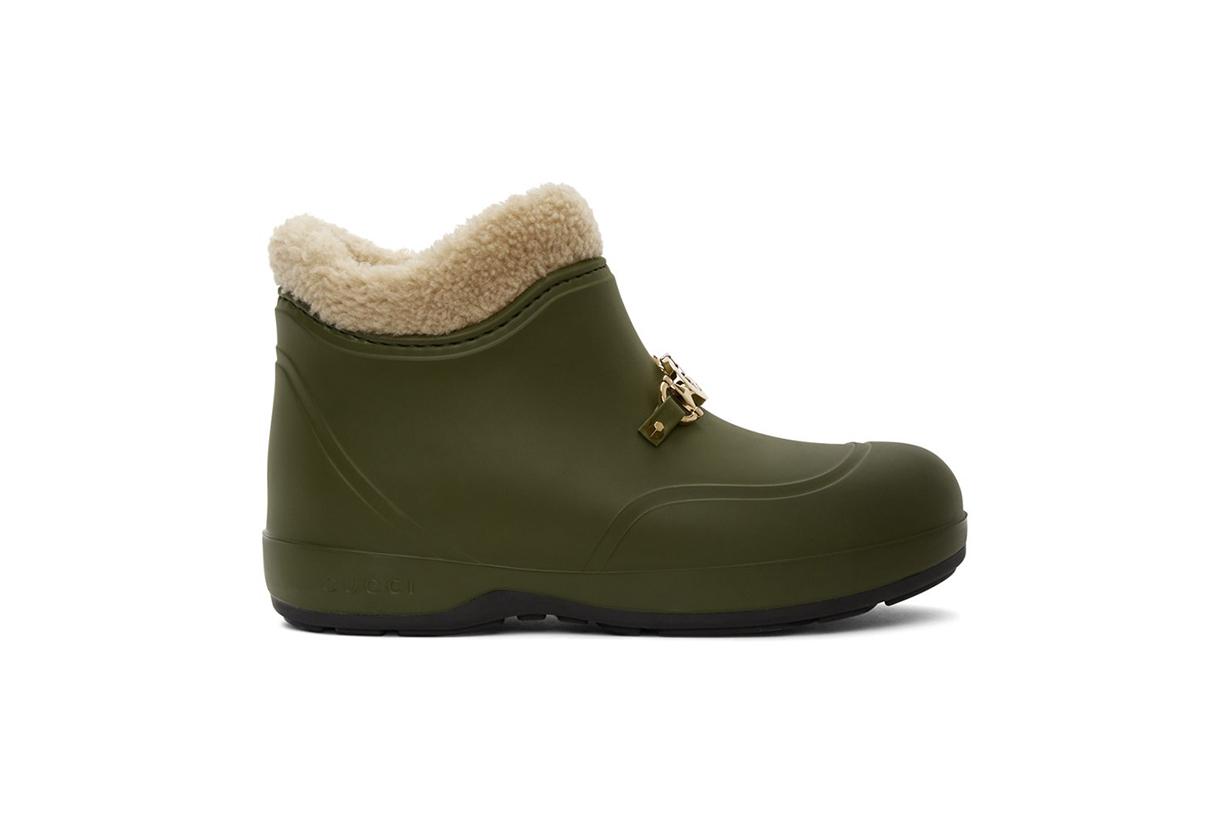 GUCCI Green Interlocking G Horsebit Boots