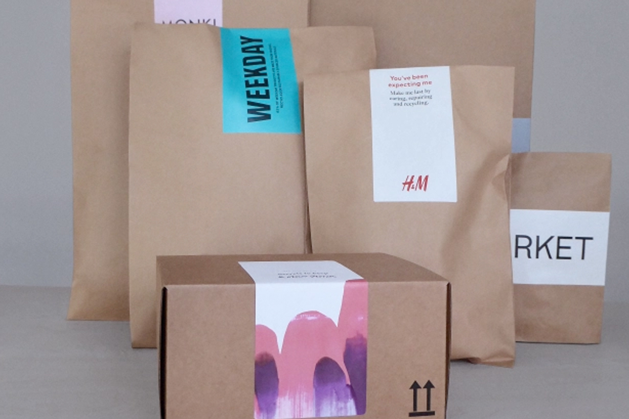 H&M cos arket group paper package replace plastic