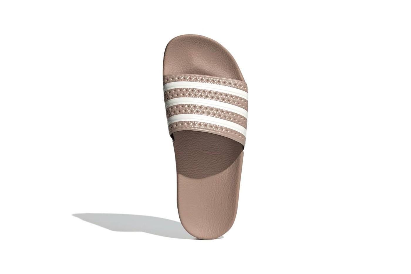 Adidas adilette w slides sandals womens nude brown beige colorway